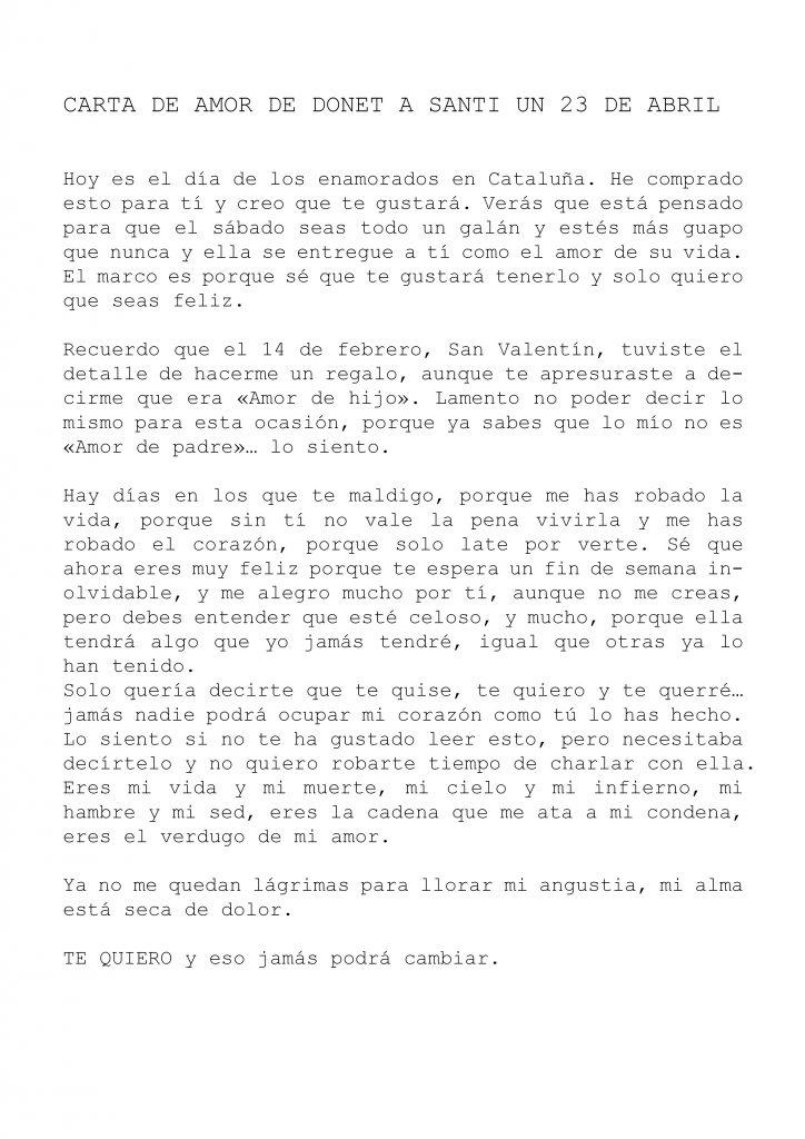 carta amor donet a santi