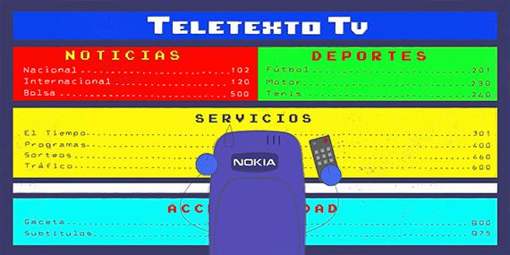 Cacharradas Nokia 3310 y Teletexto